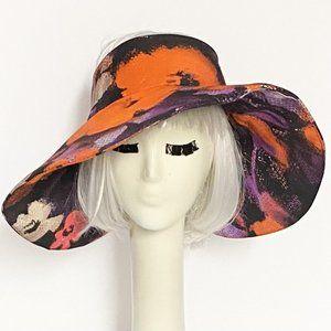 Floral Wide Brim Sun Hat